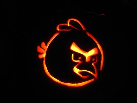 angry birds pumpkin