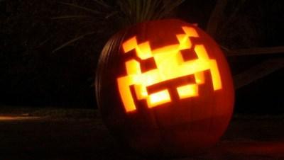 space invaders pumpkin