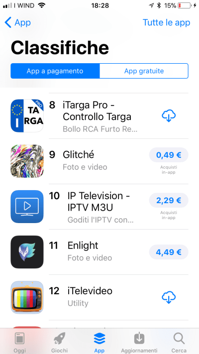 iTarga Pro - Ranked #8 in Top Paid Italy