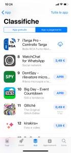 iTarga Pro #7 in classifica Generale su AppStore Italia Novembre 2018