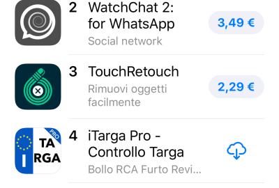 iTarga Top4 Giugno 2019