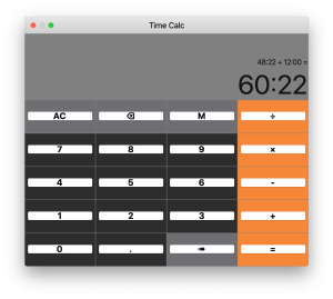 Time Calc for MacOS - Time Calculator hours minutes seconds