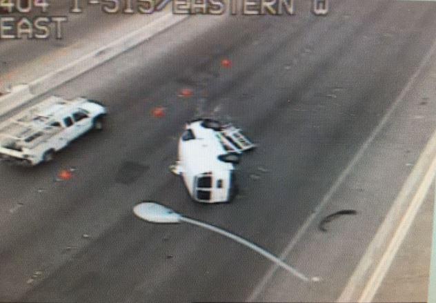 Fatal crash blocks right lanes of US 95 at Eastern