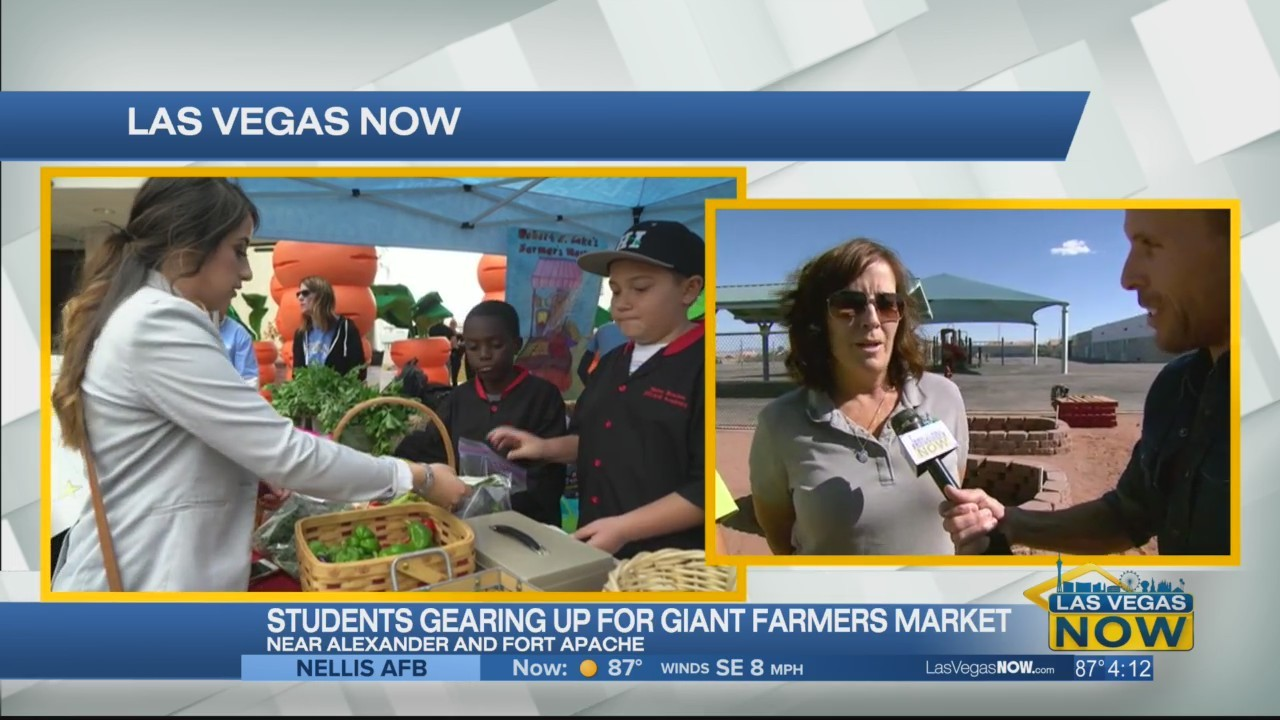 Students gearing up for a giant farmer's market