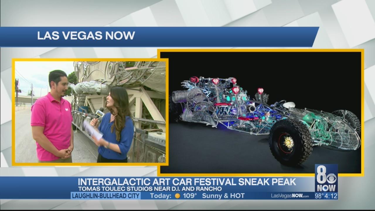 A sneak peak of the Intergalactic Art Car Fest