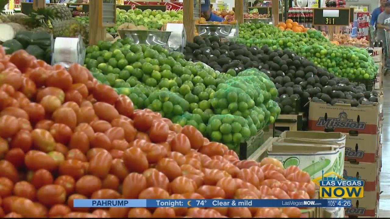 Lindsey checks out the produce section at La Bonita