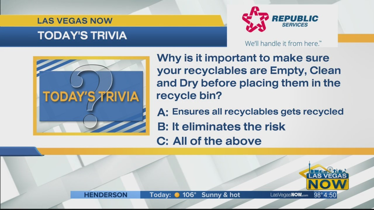 Why do recyclables need to be clean?