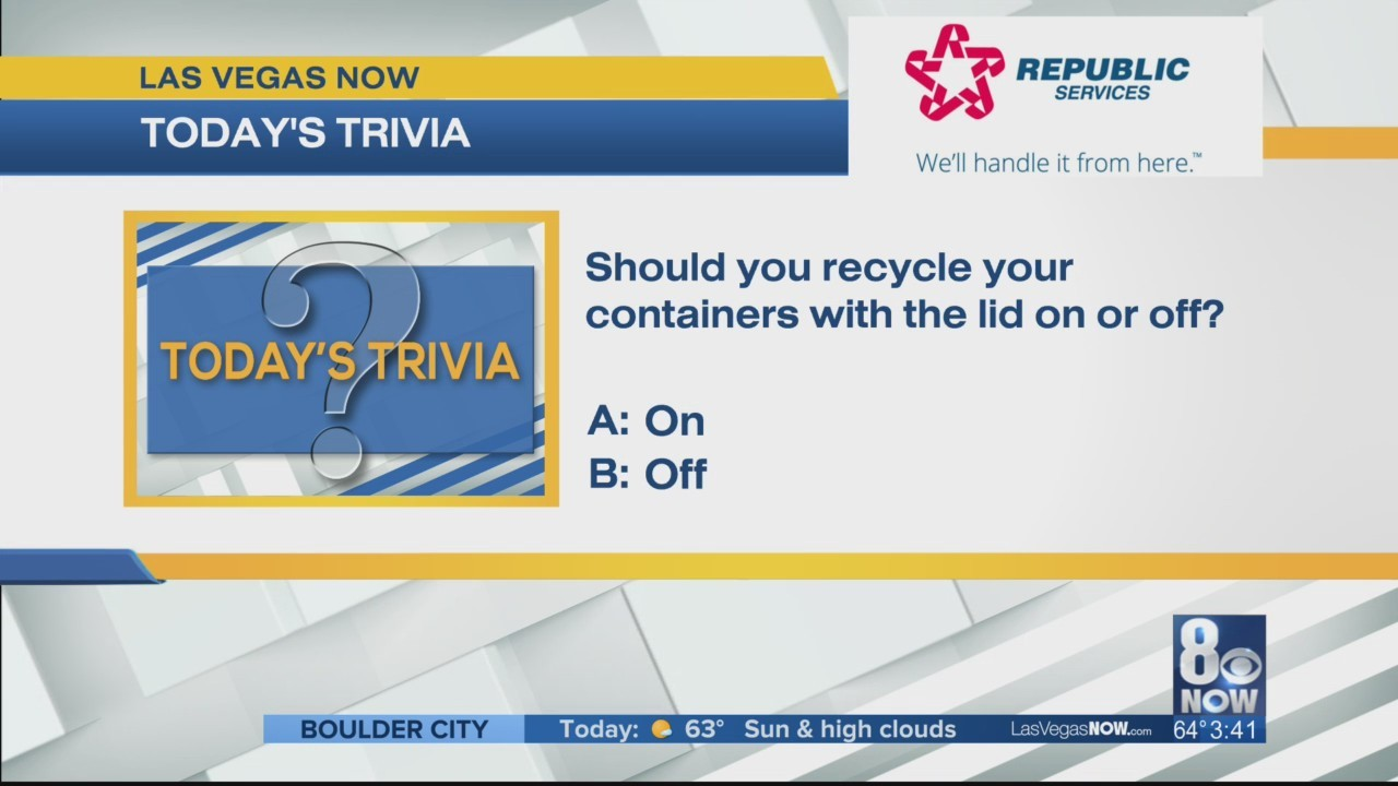 Should you recycle containers with lids on or off?