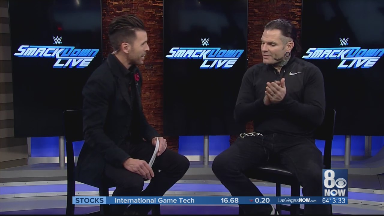 WWE superstar Jeff Hardy chats up Tuesday's show