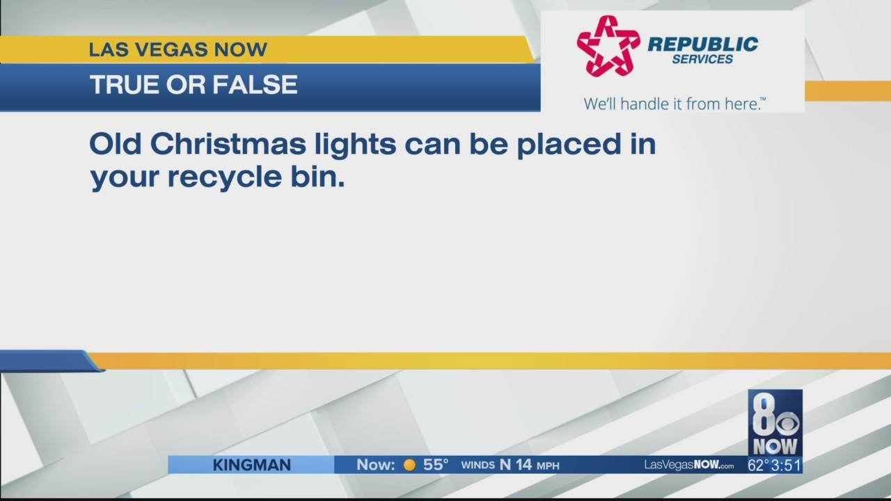 Can old Christmas lights be recycled?