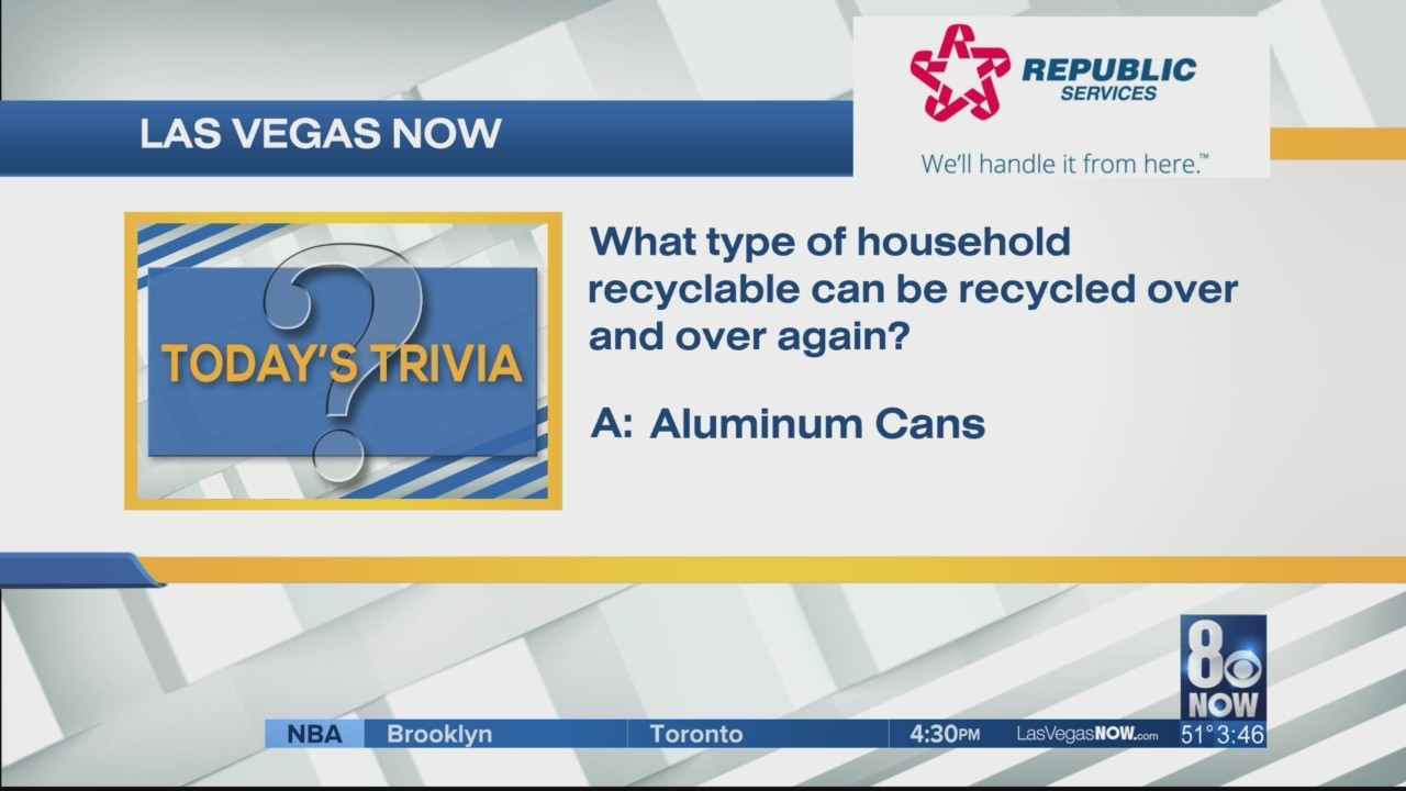 What household item can be recycled over and over?
