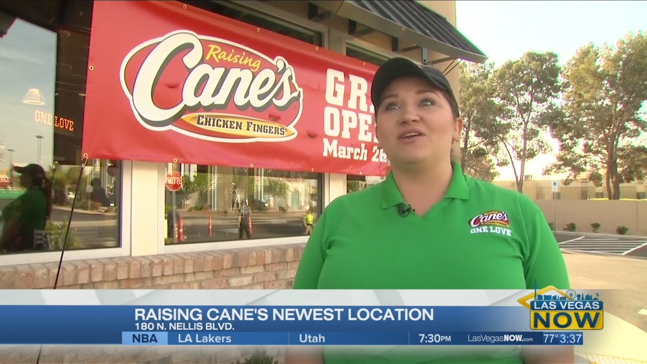 Checking out the newest Raisin Cane's location