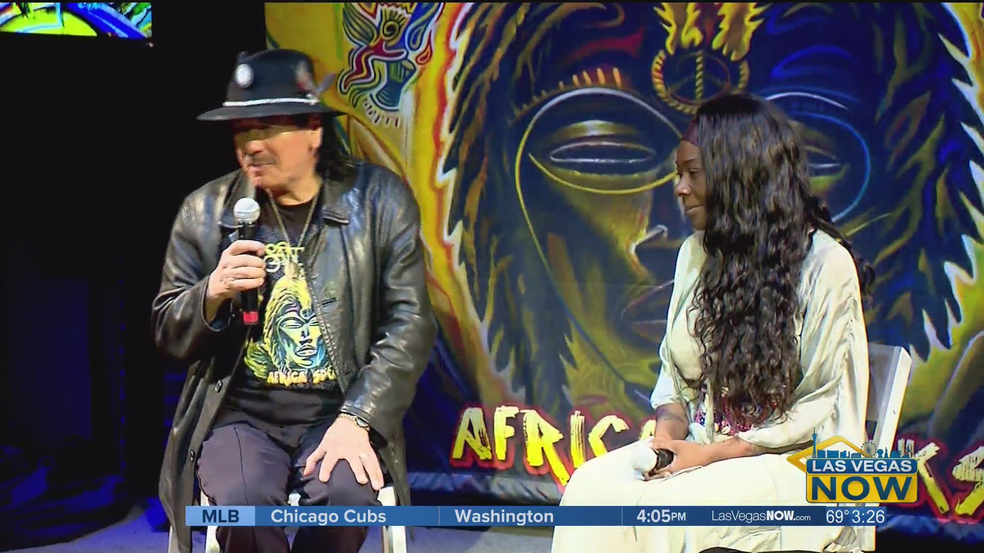 Catching up with the legendary Carlos Santana