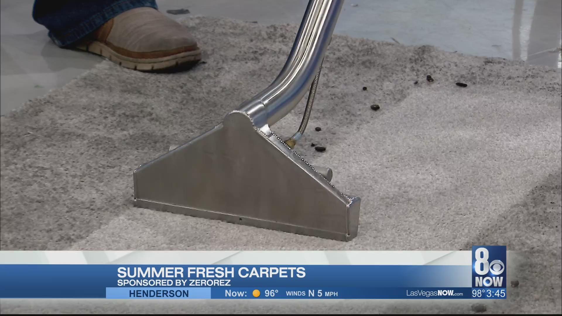 Summer fresh carpets with Zerorez