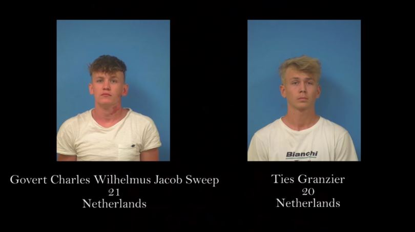 Netherlands men arrested for transgressing