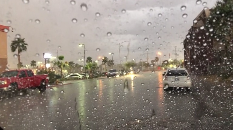 Rainy Weather moves through the valley