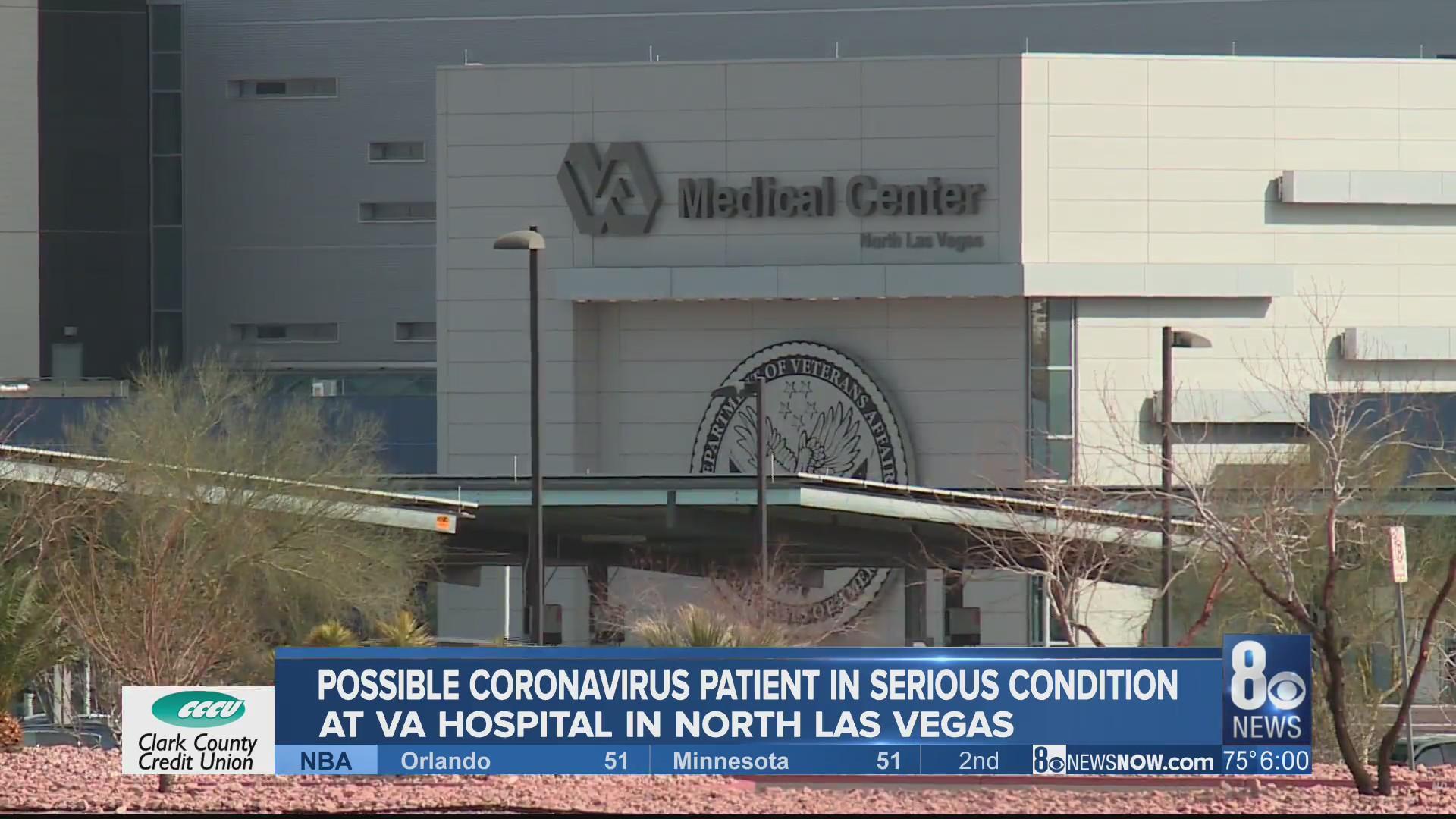 Possible Las Vegas coronavirus patient in serious condition   KLAS ...