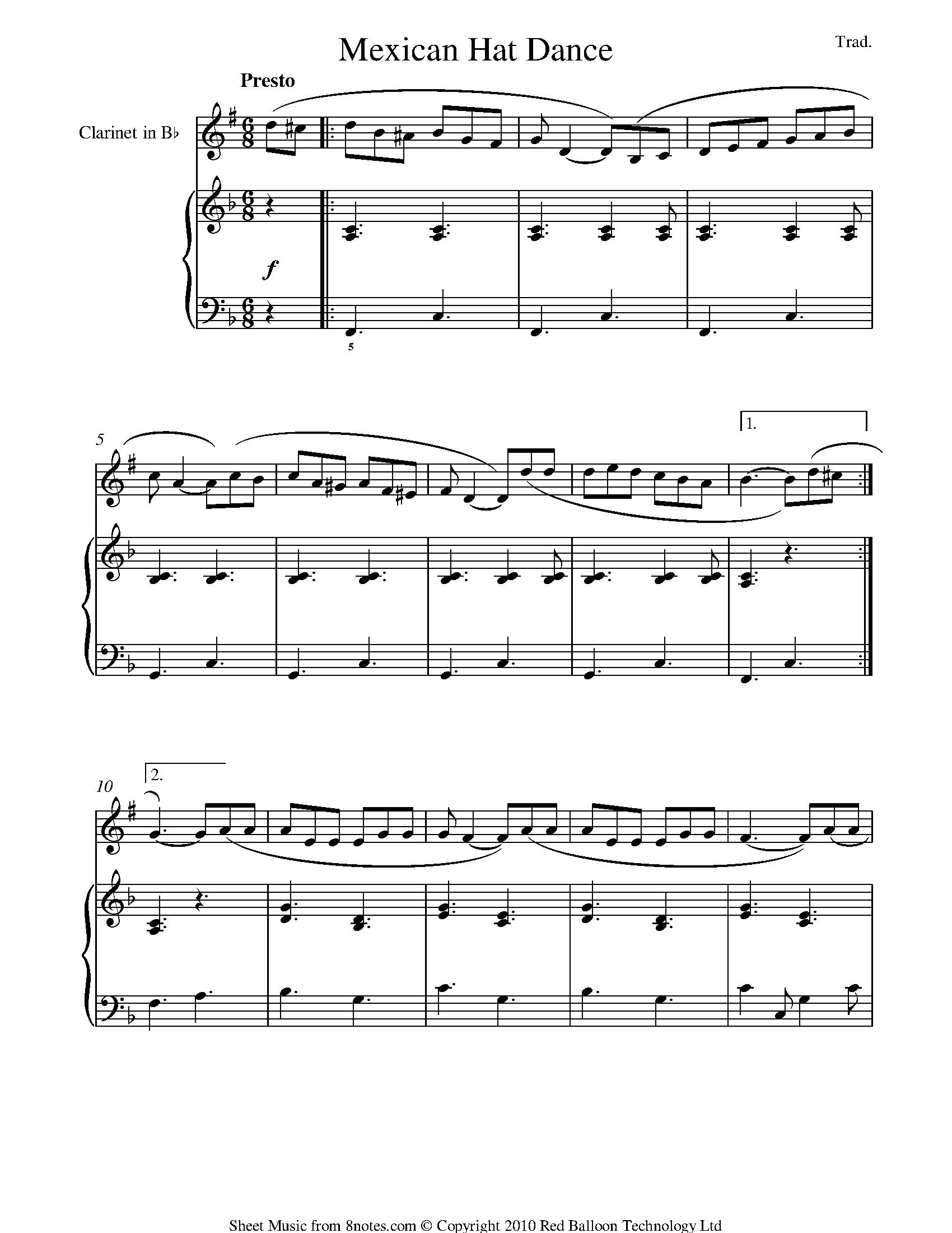 hight resolution of clarinet diagram