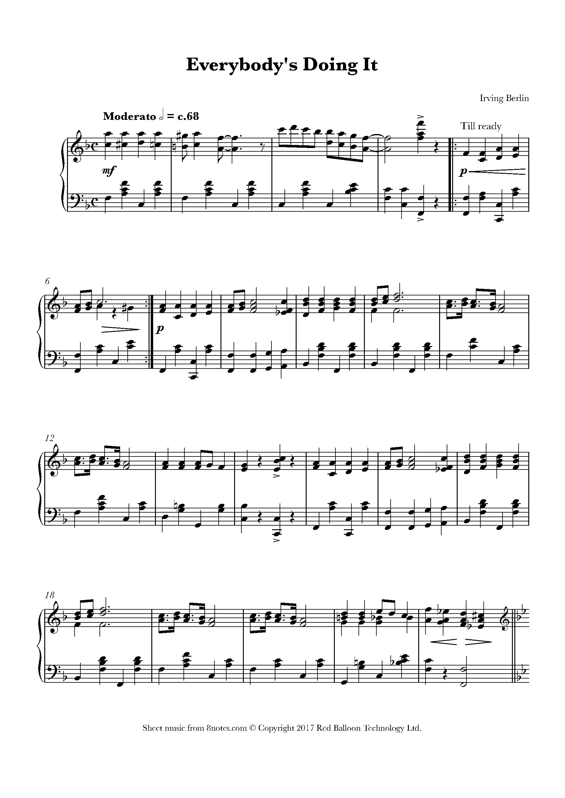 Free sheet music for piano