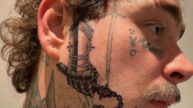 Photo of See Post Malone's Massive New Face Tattoo