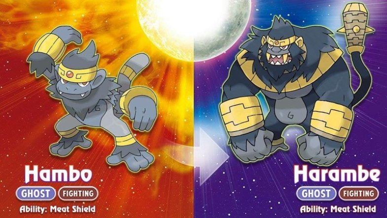 Harambe as a pokemon