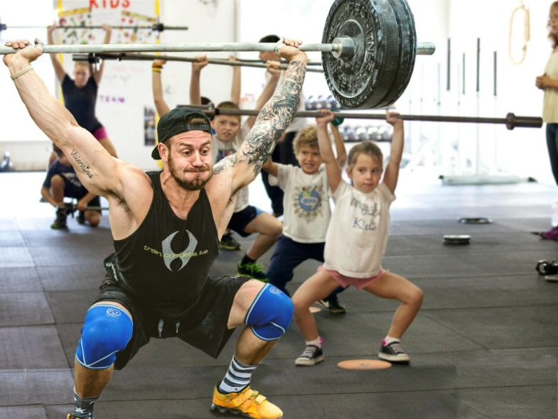 man who identifies as 6 year old dominates crossfit kids class 8shit