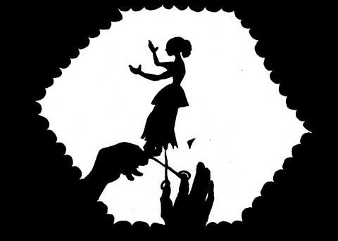 Lotte Reiniger_Scherenschnitt zum Stummfilm Cinderella