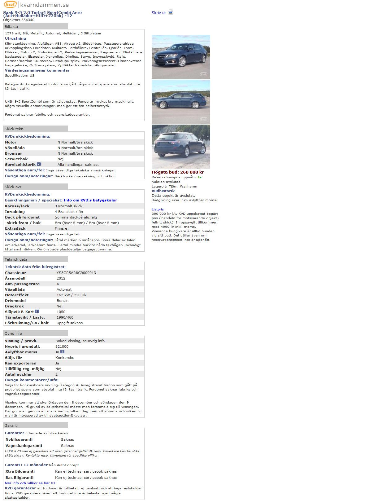 Nr 13 Ys3gr5ar8c Kvd Saab 9 5ng