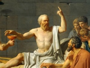 Socrates drinking the Hemlock.