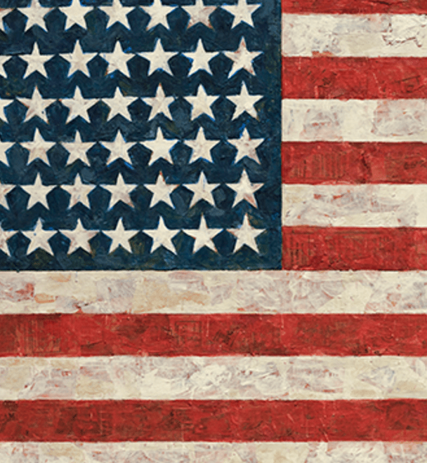 USA flag Jasper Johns