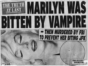 Marilyn Monroe bitten by a vampire