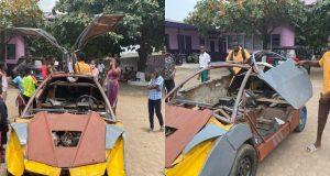 18-year-old JHS graduate builds his own Bugatti-like car (Photos + Videos)