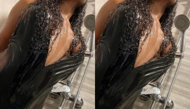 Yaa Jackson's Bathroom Half-N@Ked Photos Leaked