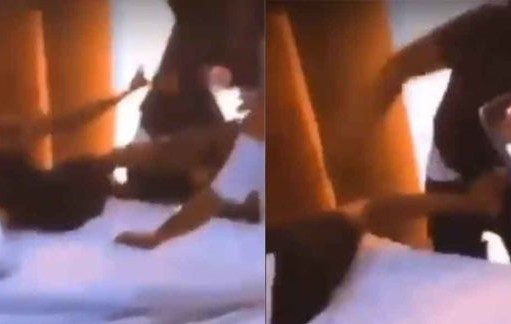 Boyfriend And His Friends Mercilessly Flog His Cheating Girlfriend – Video.