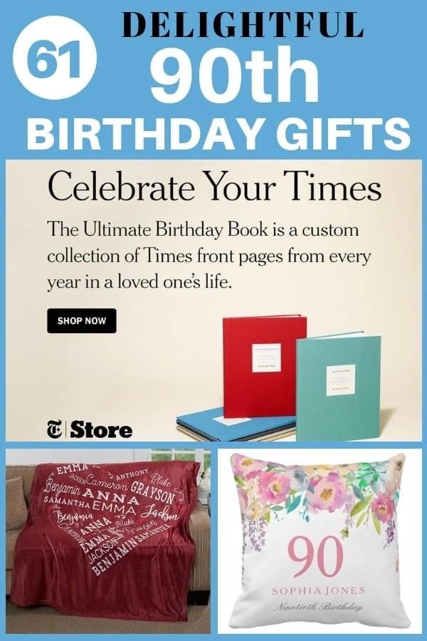 90th birthday gifts 50