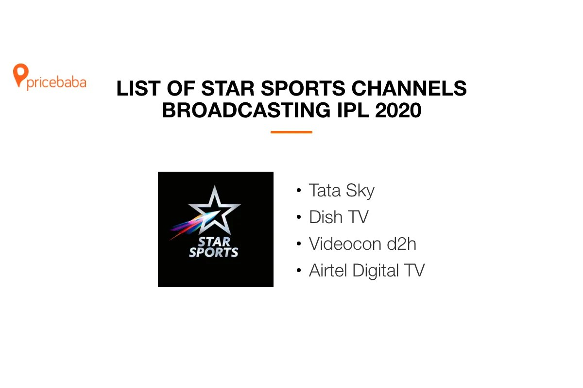 IPL 2020: list of Star Sports channels and channel numbers