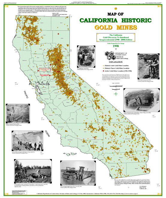 Map of California Mines