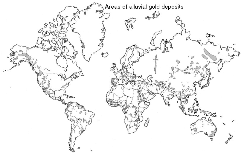 World Gold Deposits Map
