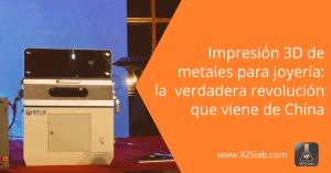 925lab - Revolucionaria impresora 3D china