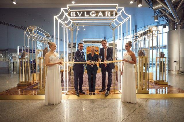 Inauguración de la pop-up store de Bulgari en el aeropuerto de Helsinki [foto gentileza de la firma]