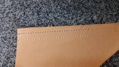 ウォレット革手縫いその3