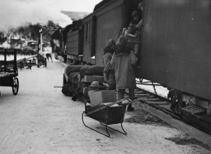 The 93rd African American Engineers completed their section of the Alaska Highway. They boarded a ship for Haines, AK and stayed at Chilkoot Barracks, a much needed rest.
