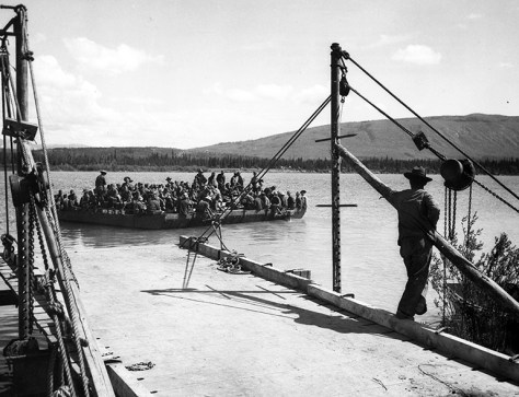 Transporting Troops Across the The Teslin Lake