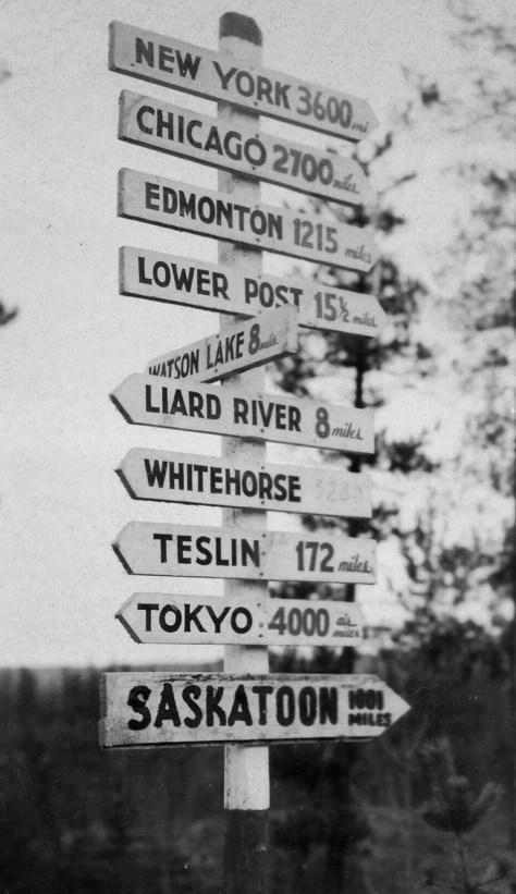 Watson Lake Post Signs
