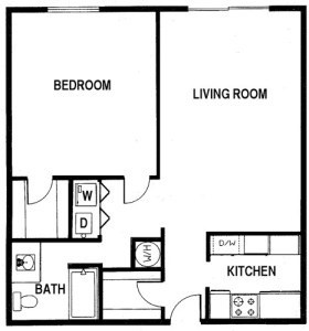 1 Bed / 1 Bath / 850 sq ft / Rent: Please Call