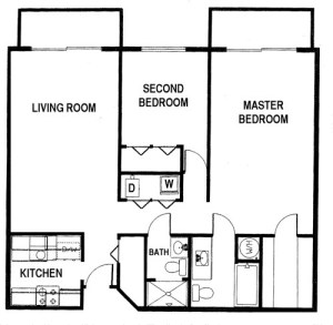 2 Bed / 2 Bath / 1,050 sq ft / Availability: Please Call / Deposit: $1,000 / Please Call