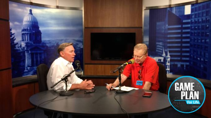Mark Johnson and Skip Hall at KTVB Studios