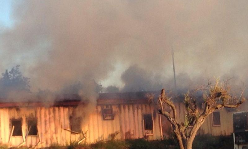Incendio in zona Palazzolo: a fuoco un container