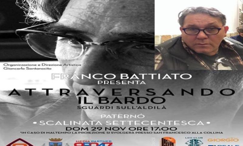 Franco Battiato presenta il suo film alla Scalinata settecentesca