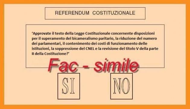 Referendum Costituzionale. Ecco cosa e come si vota